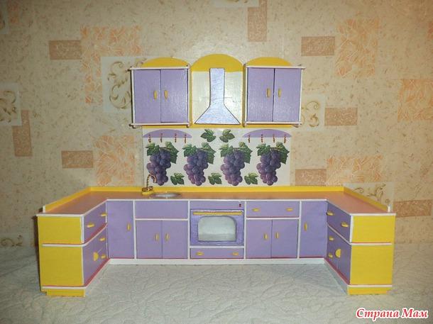 Моя кукольная кухня своими руками