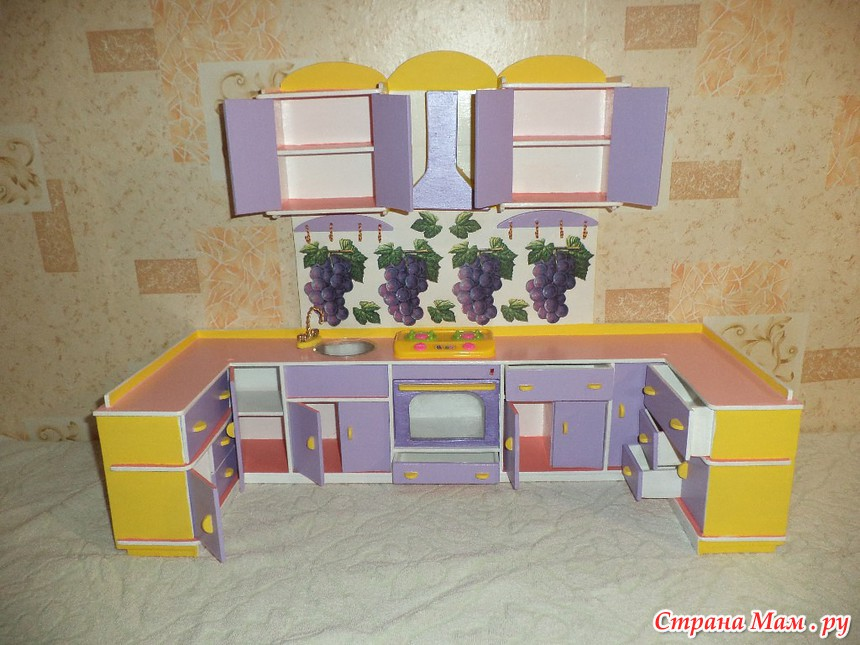 Мебель для кукольного домика своими руками как сделать