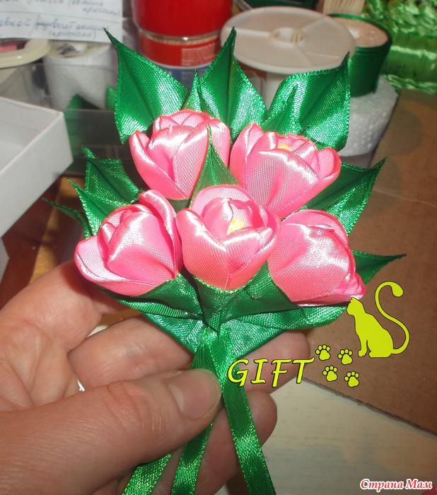 Подарок для учителя из лент 156