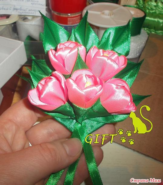 Подарки из ленточек 97