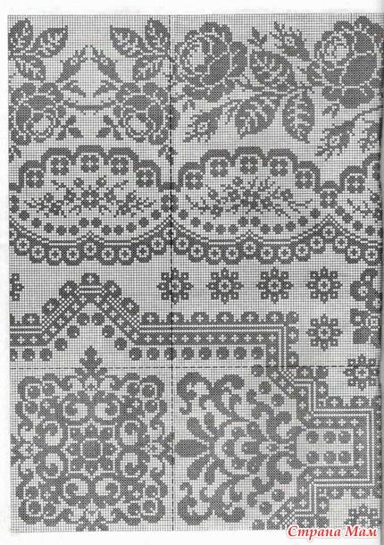 Необычные схемы филейного вязания