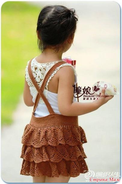 . Летняя майка с ажурной спинкой и мини-МК по ней.