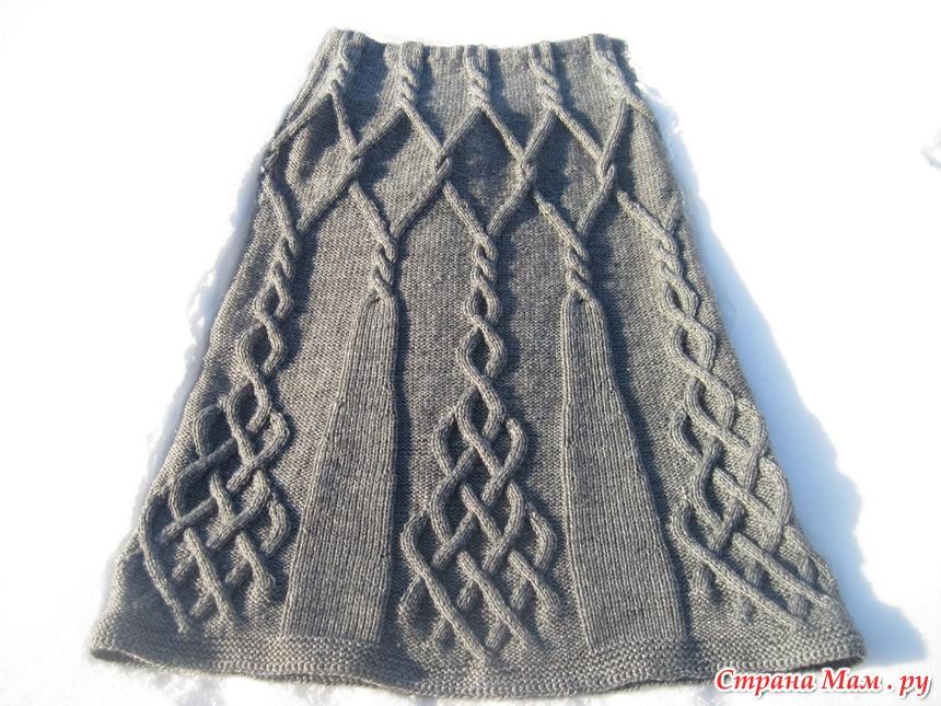 Юбки вязанные аранами
