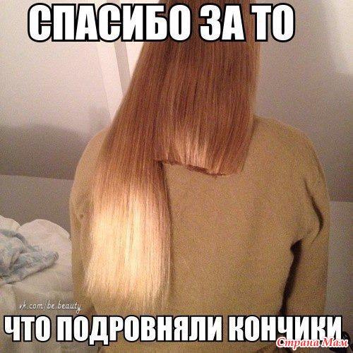 Как самой подровнять концы волос видео - Savvinka.ru