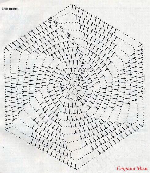 Вязание крючком мотивы мельница