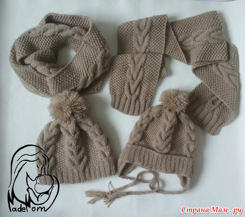 шапка парню спицами из пряжи ализе ланаголд