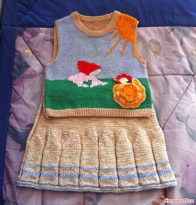 Вязание безрукавка для бабушки