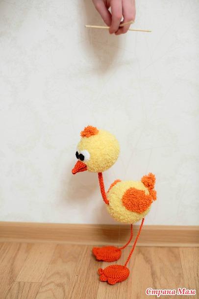 Игрушка марионетка страусенок