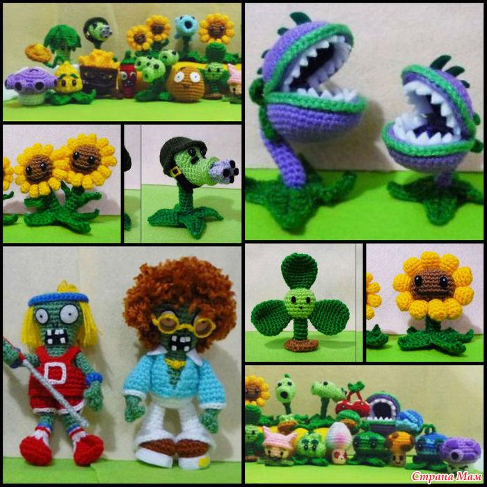 Вязанные растения против зомби