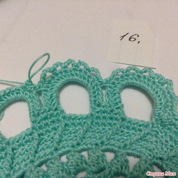 """钩针教程:""""辉煌""""的餐巾或地垫(大师班)(二) - maomao - 我随心动"""