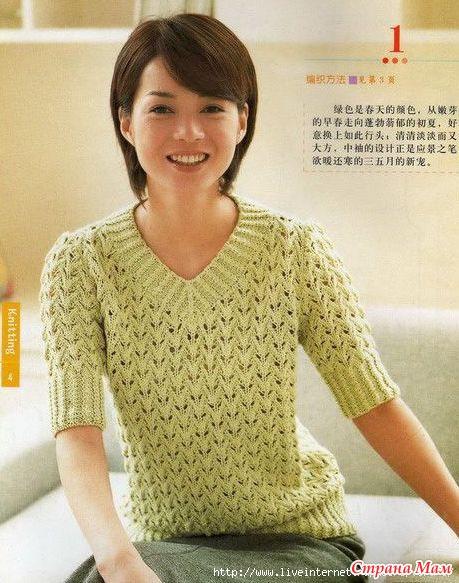 Вязание женских кофт спицами со схемами.