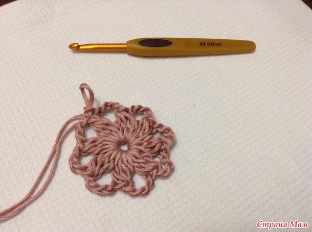 """钩针教程:""""辉煌""""的餐巾或地垫(大师班)(一) - maomao - 我随心动"""