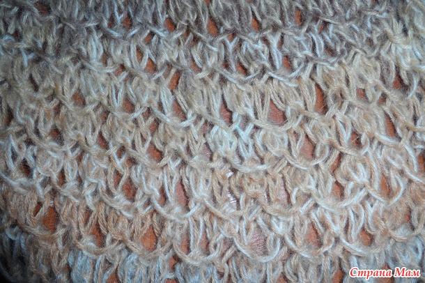шарф из пряжи ализе