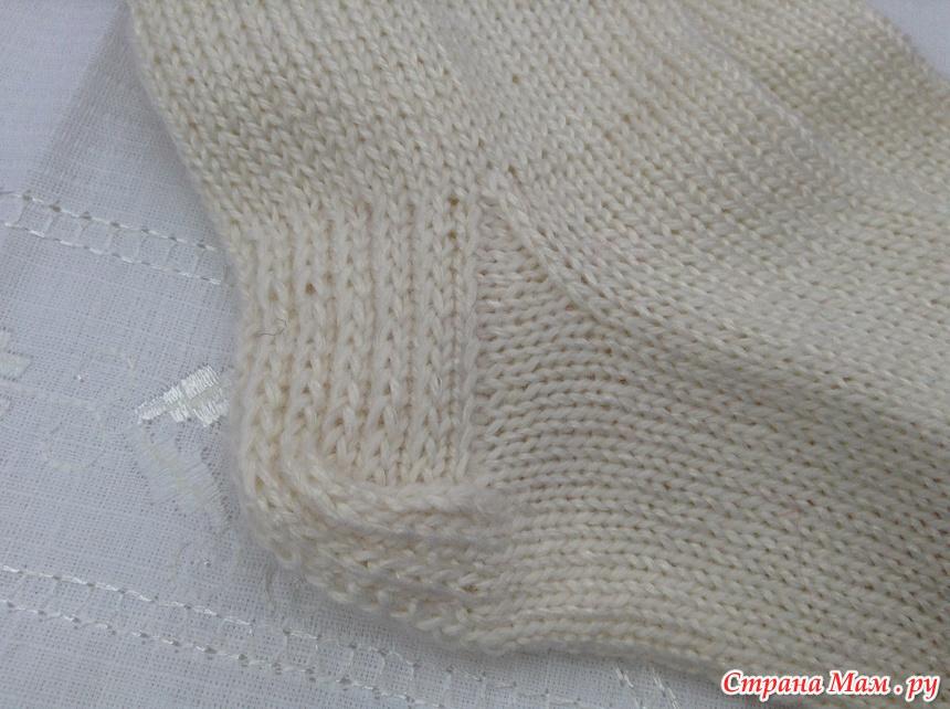 Как вязать двойную пятку носка спицами