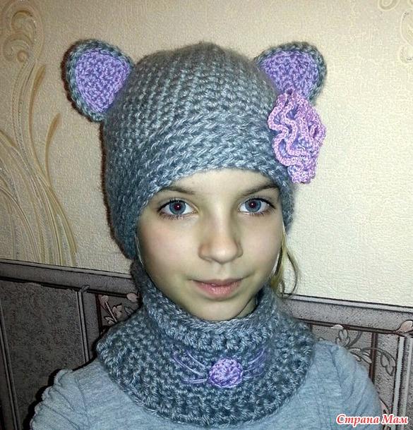 Шапочки-кошечки))) - Вязание - Страна Мам