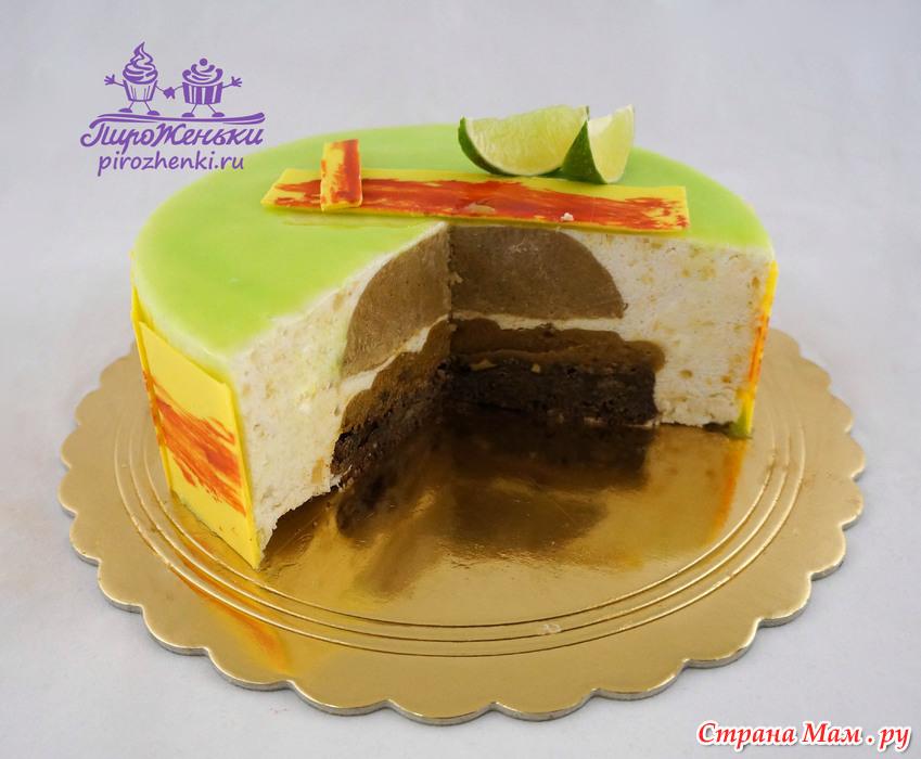 Необычный торт без мастики фото