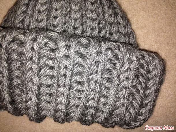 Как закончить вязание шапки английской резинкой 76