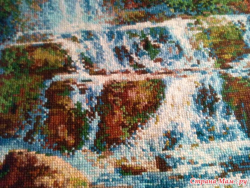 Вышивка водопад от риолис