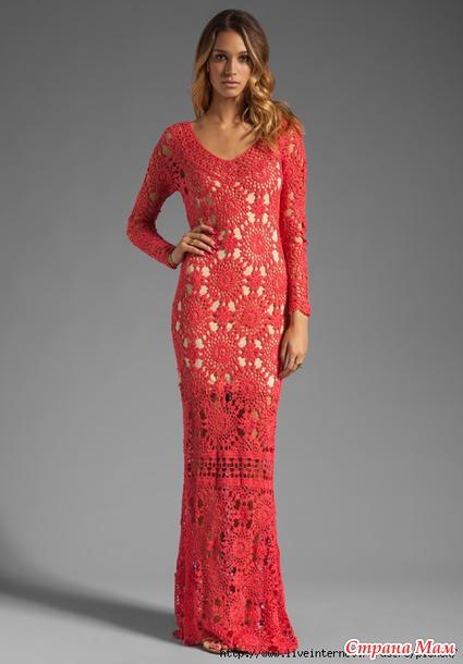 Платье крючком по Eternal Sunshine Creations.