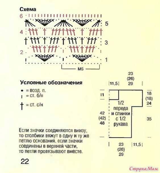 Кофточка крючком