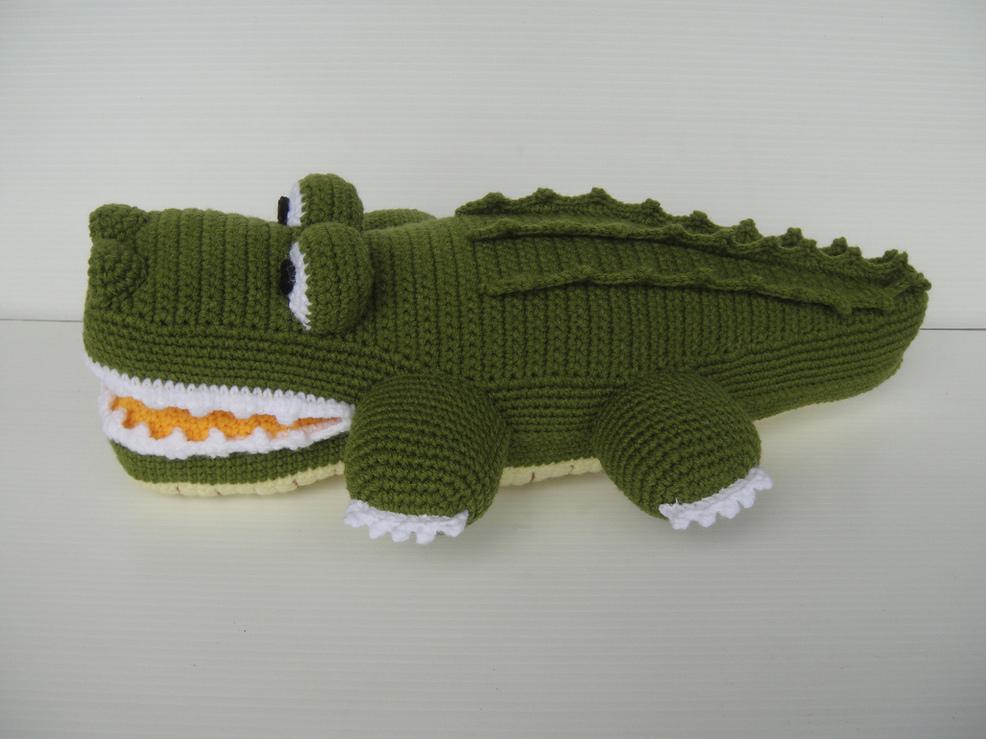 Крокодил крючком схема вязания