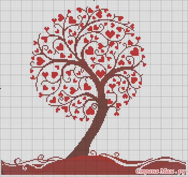 Картинка дерева для вышивки