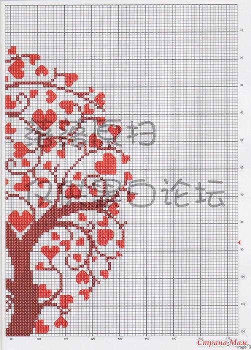 Вышивка крестиком Дерево любви