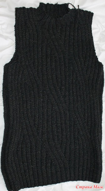 Как не стягивать вязание спицами 182