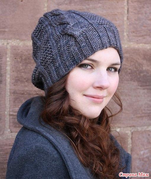 вязание спицами шапку подростку