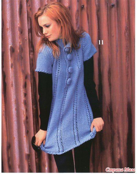 Удлиненный пуловер, две модели в Вашу копилку.