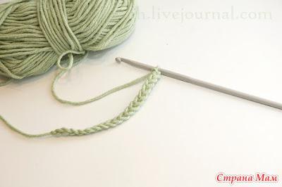 Итальянский набор петель с использованием крючка