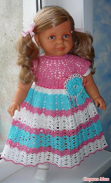 .. Ажурные платья для  девчонок