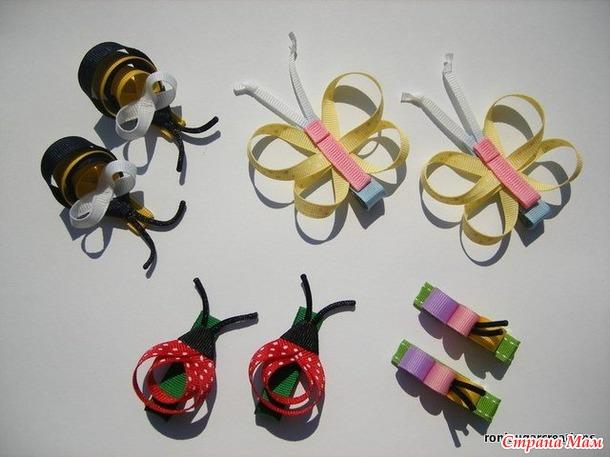 Бантики из репсовой ленты своими руками мастер