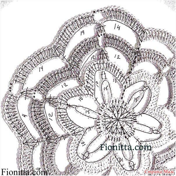 Нереальной красоты мотив. Цветы пассифлоры. Схема, МК
