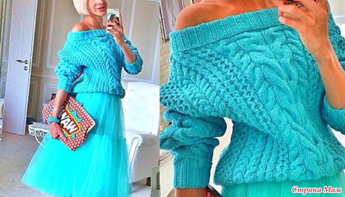 Вязание объемных свитеров