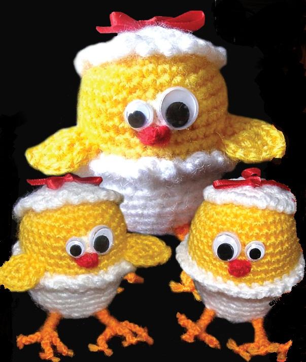 Цыпленок. Вязание крючком.