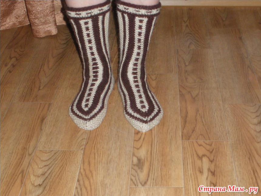 Вязание носков со светланой берсановой 70