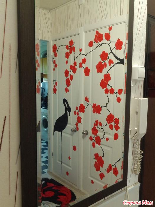Декор двери канадка своими руками