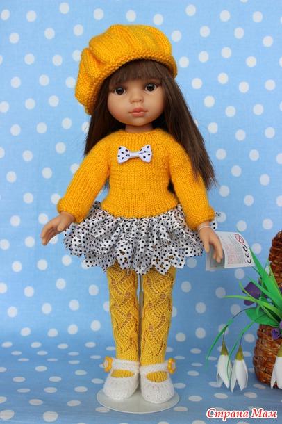 Вязание для куклы платье первоцветик