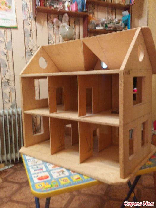 Кукольный домик для барби своими руками из фанеры схема фото