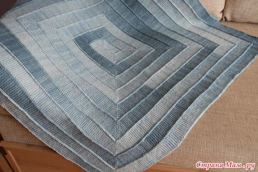 Вязание плед на 10 петлях 45