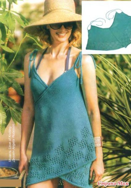 Пляжное платье-халат
