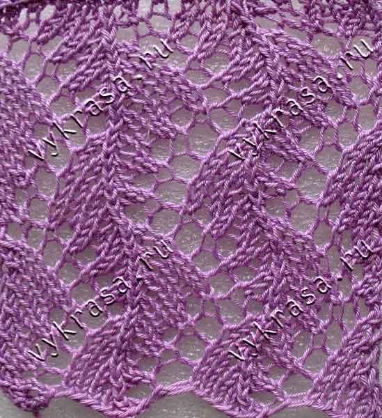 Вязание ажурного узора: