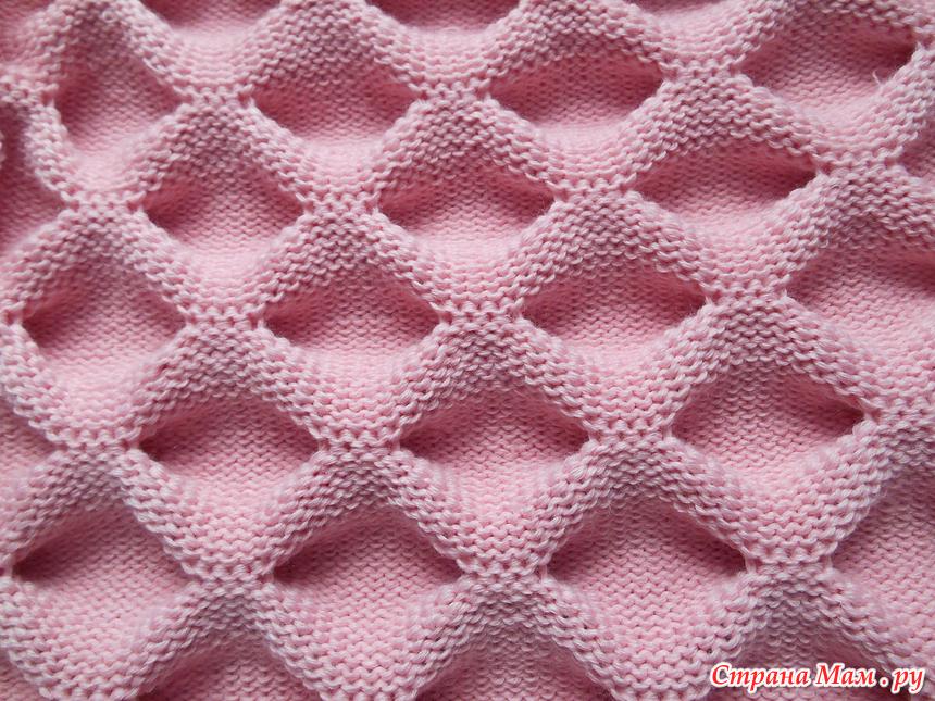 Вязание на спицах узор пузыри