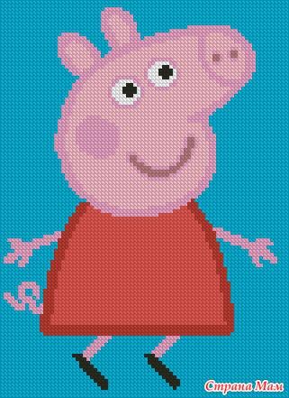 Свинка вышивка крестом схема