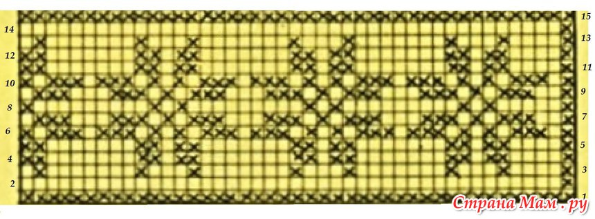 Филейное вязание как сделать схему