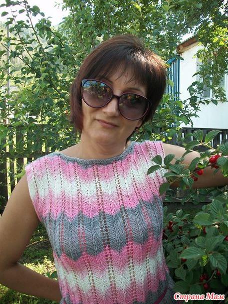 """Платье """"Розовое Миссони"""" в моем исполнении."""