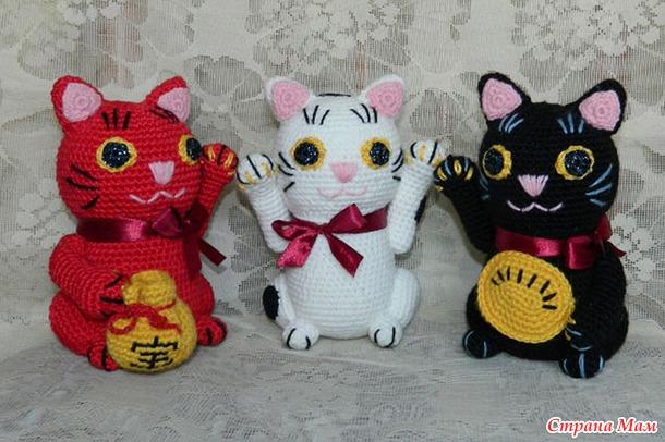 Японские талисманы удачи - кошечки Аминеко