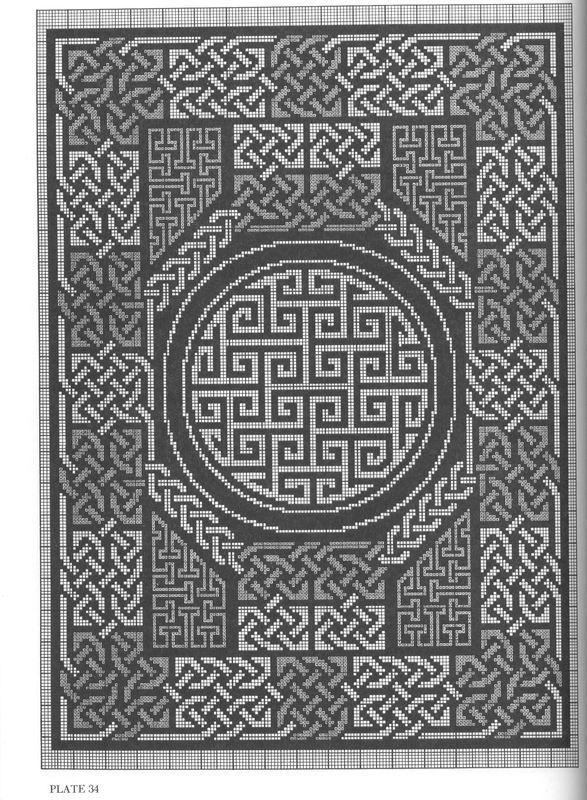 Кельтские узоры схемы вышивка