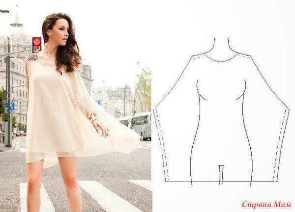 О очень простые выкройки платья
